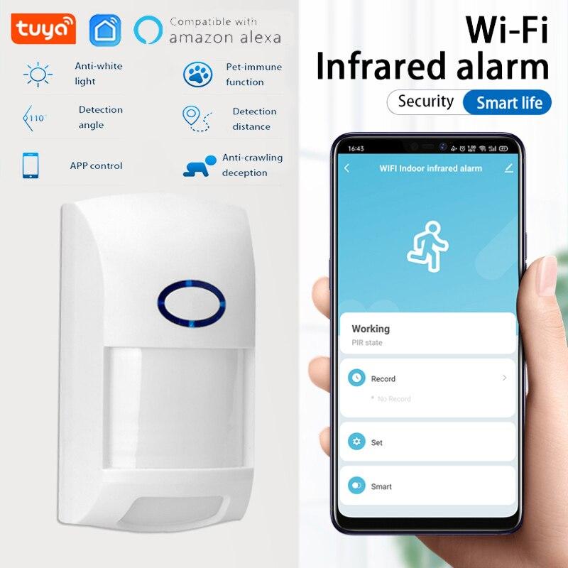 app Tuya Smart WiFi Infrared Detectors Motion Sensor Alarm Compatible Wireless Home Security System With Tuya APP Smart Life APP