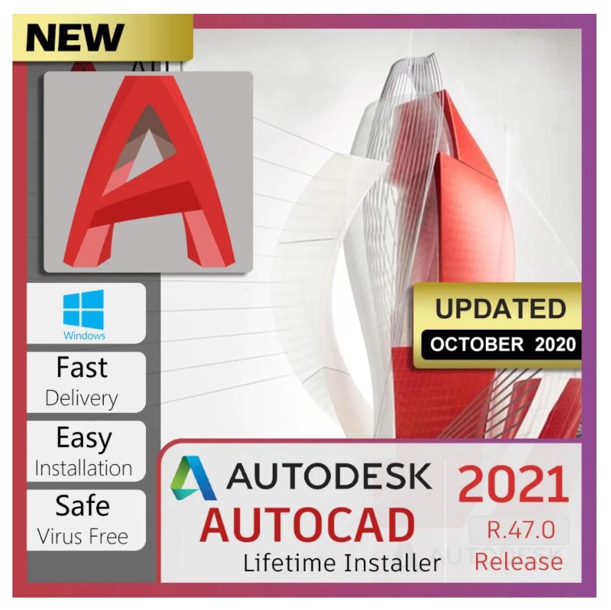 ✔️Auto CAD 2021✔️Real de la instalación de activación✔️Uso permanente para windows y...