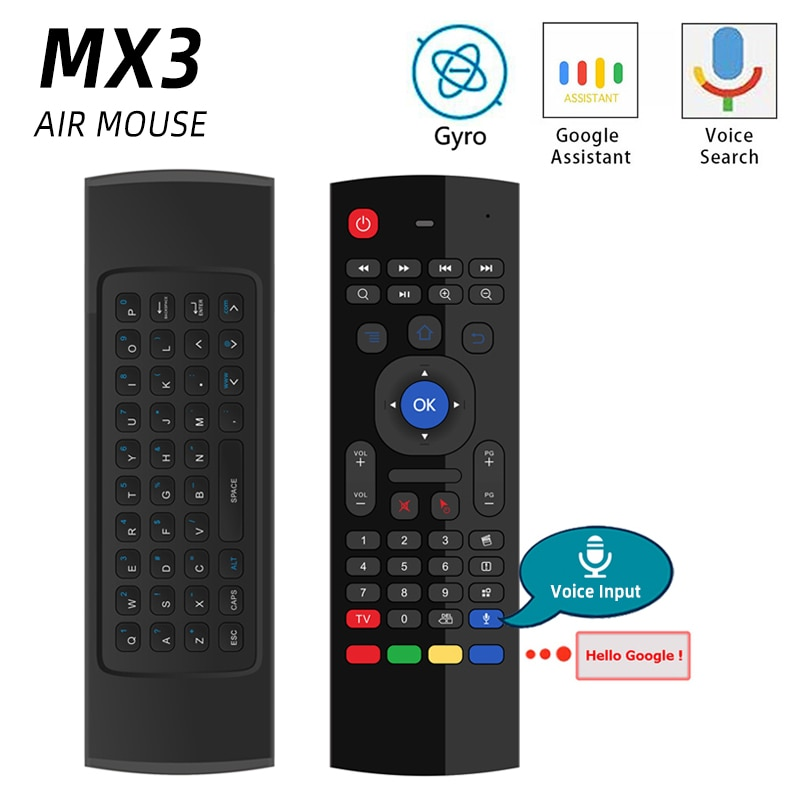 high quality 2.4G Air Mouse Smart Voice Remote Control Wireless Keyboard IR Learning Air Mouse MX3