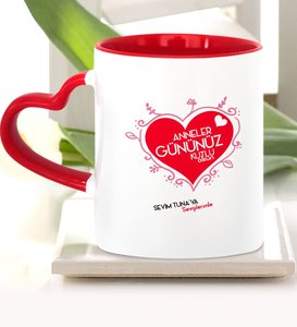 Personalized Mother 'S Days Happy Red Heart Mug Cup-10