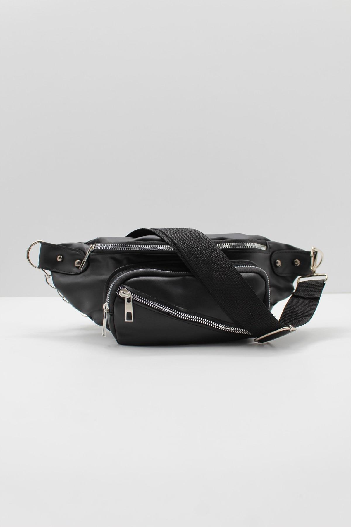 Women's Black Soft Textured Strap Cross Shoulder And Waist Bag сумка женская сумка через плечо bags for women Наплечные сумки шо