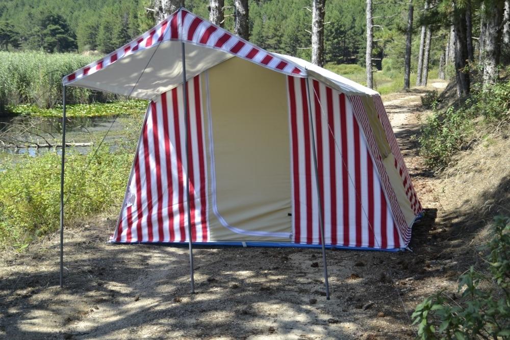 Палатка для кемпинга на открытом воздухе с хлопковой подкладкой