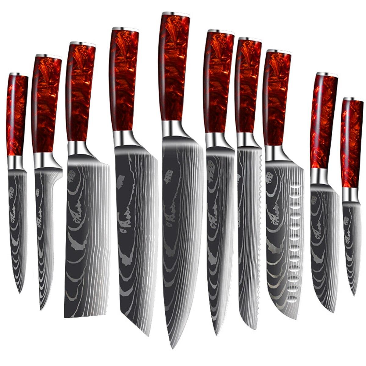 Набор профессиональных кухонных ножей, нож мясника для обвалки фруктов, нарезки мяса, нарезки, измельчения рыбы, филе, набор кухонных ножей нож для нарезки мяса 2900 293525 350 мм черный