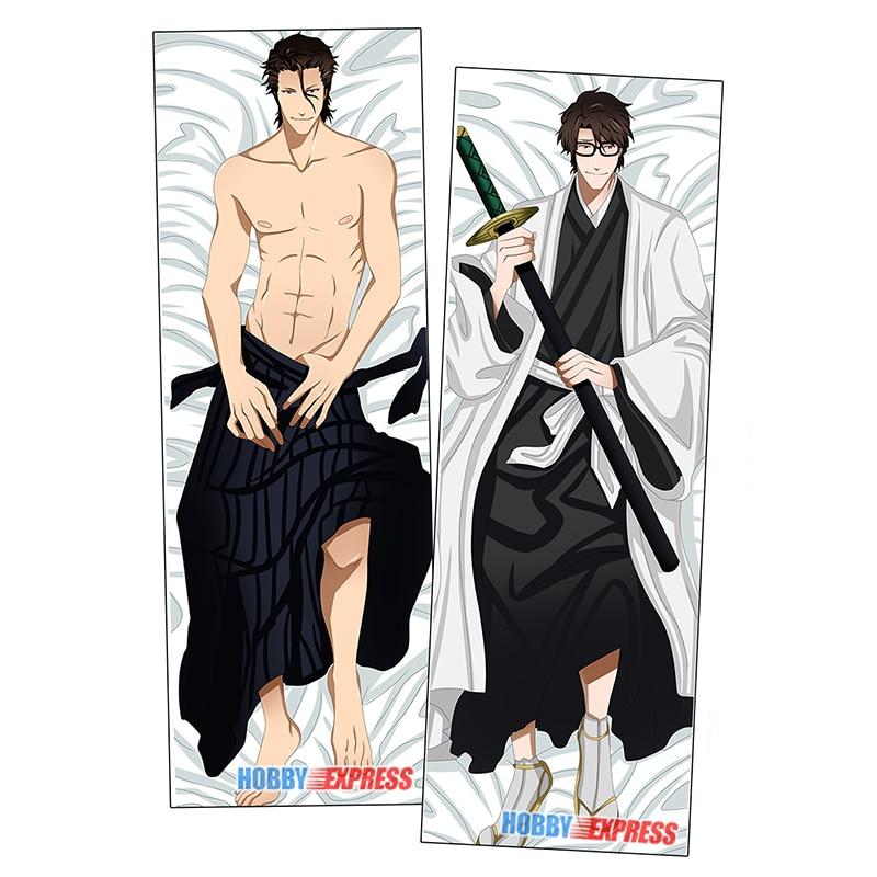 Hobby express anime dakimakura japonês otaku husbando abraçando corpo travesseiro capa sosuke aizen alvejante adp20531