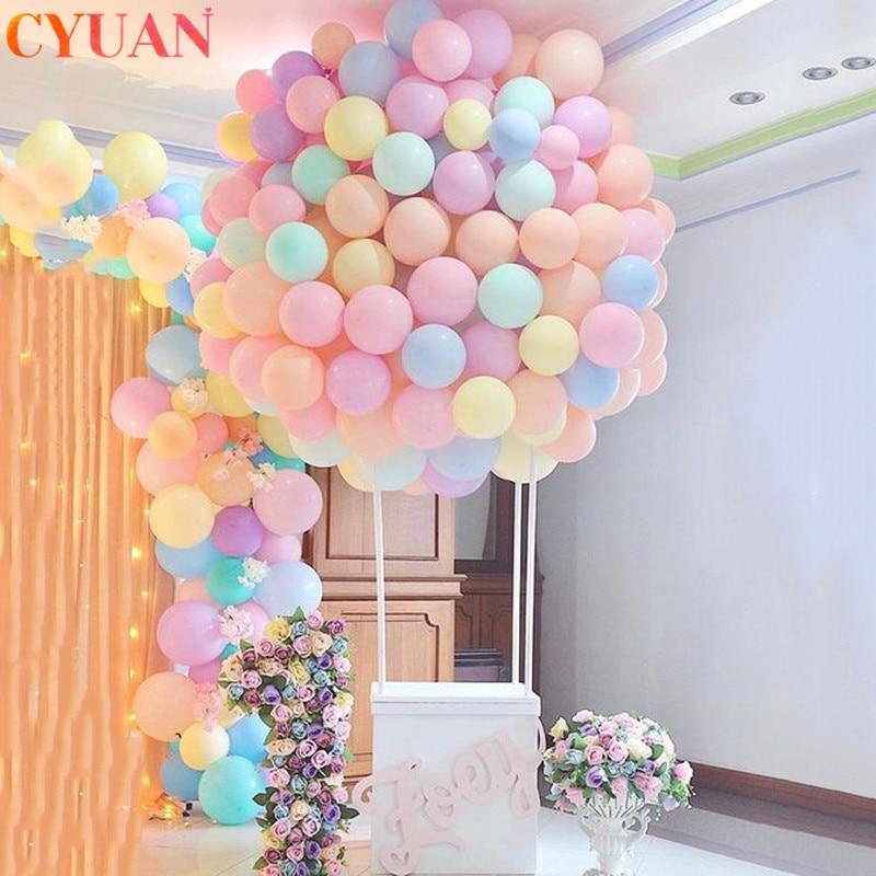 50 Uds. Globos de látex de macarrón de 12 pulgadas Pastel caramelo globo decoraciones para fiesta de cumpleaños niños decoración de ducha de bebé Globos de aire