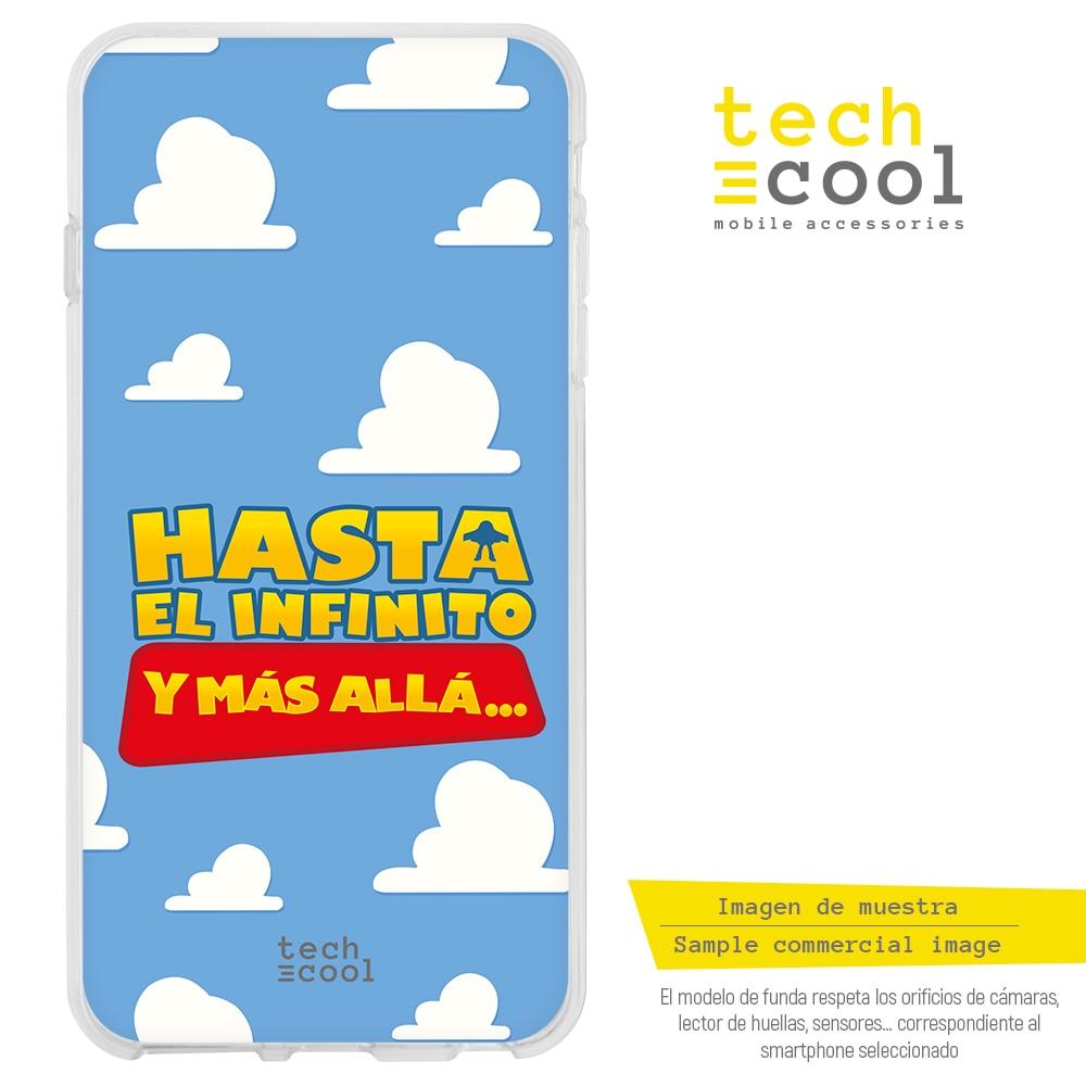"FunnyTech® Funda Silicona para Huawei P20 l Frase Toy Story ""Hasta el infinito"" fondo azul"