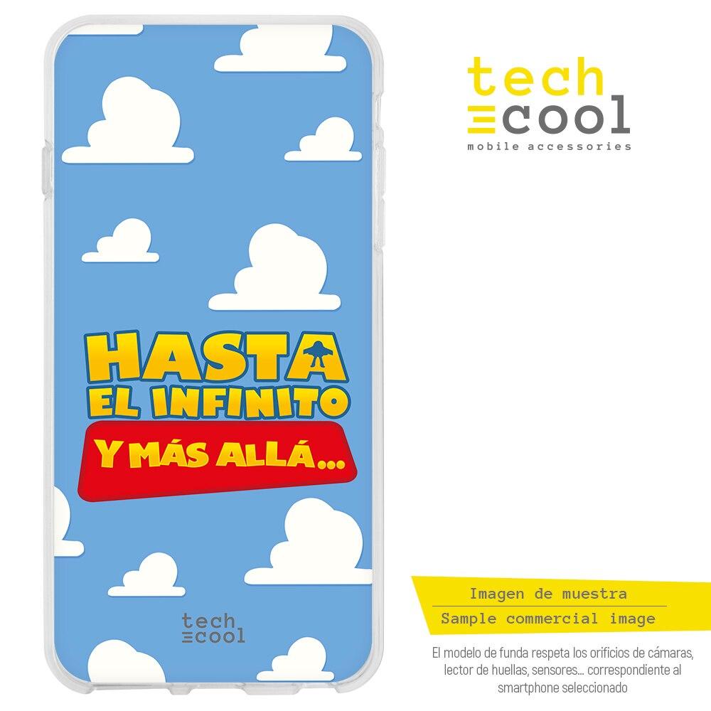 "FunnyTech® Funda Silicona para Huawei P30 Pro l Frase Toy Story ""Hasta el infinito"" fondo azul"