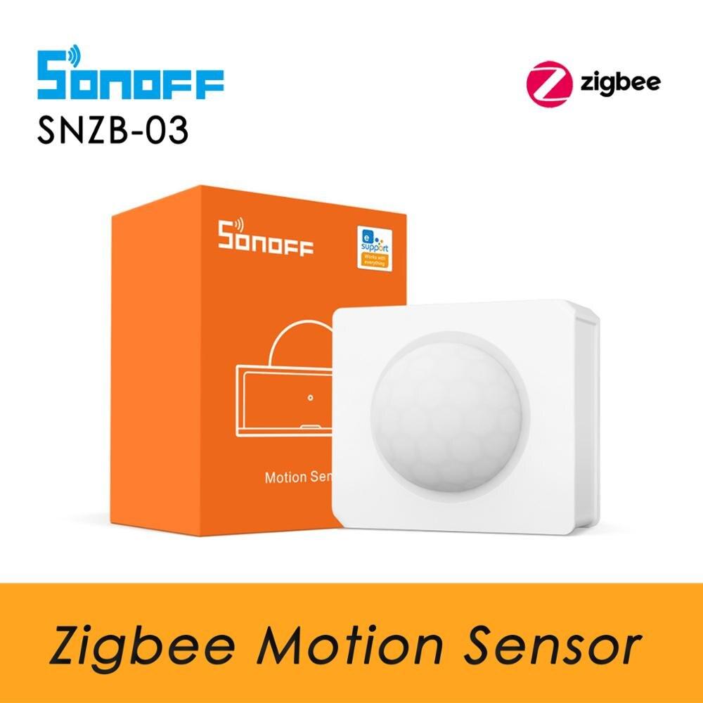 SONOFF SNZB 03 Zigbee Motion Sensor Human Body Sensor, Zigbee PIR Sensor, Work with SONOFF Zigbee Bridge, Smart Home Security