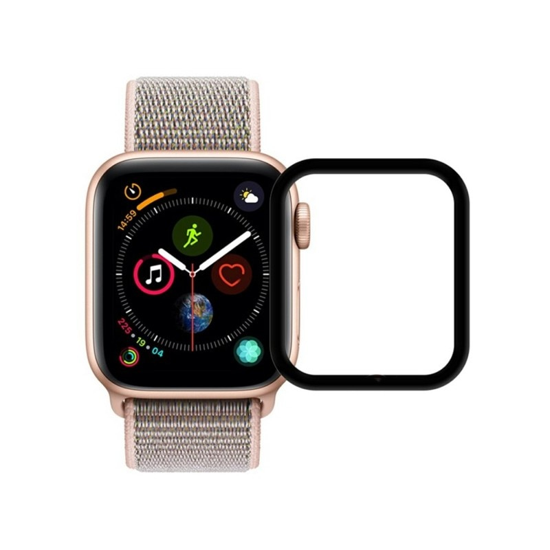 Vidrio protector 3d para Apple Watch Series 4 40mm, vidrio curvado templado, Apple Watch 40mm protección de pantalla