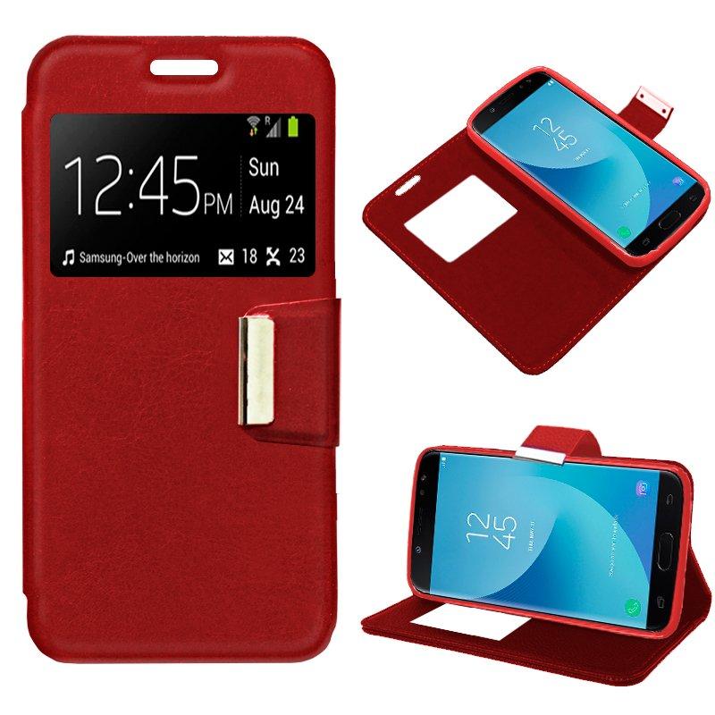Funda Flip Cover Samsung J730 Galaxy J7 (2017) Color Rojo