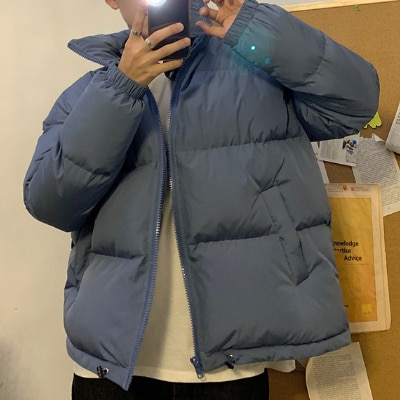 Lovers' Clothes Harajuku Colorful Bubble Coat Winter Jacket 2021  Streetwear Hip Hop   Men's  Women's  Cotton Padded Thickening