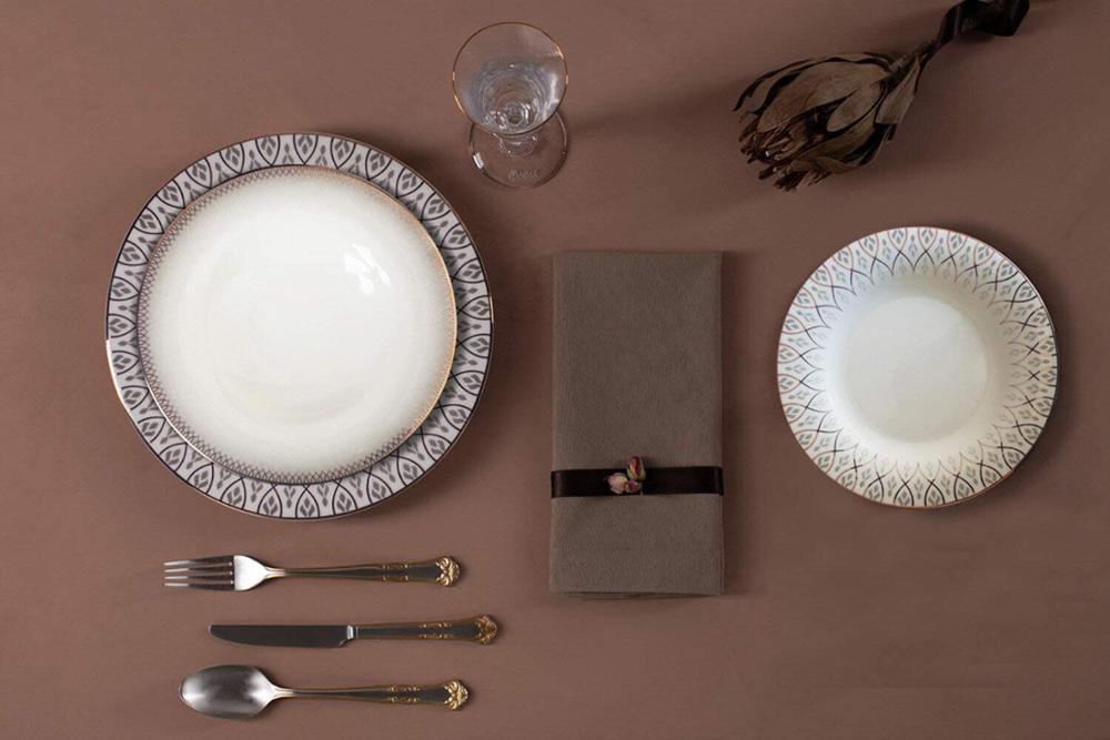 Porland-طقم عشاء رومانسي ، أدوات مائدة لـ 12 شخصًا ، 60 قطعة