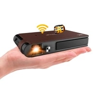 CAIWEI S6 Mini Projecteur DLP Support Portable 1080P Video WIFI Projecteur LED Beamer TV Full HD pour le Cinema A La Maison