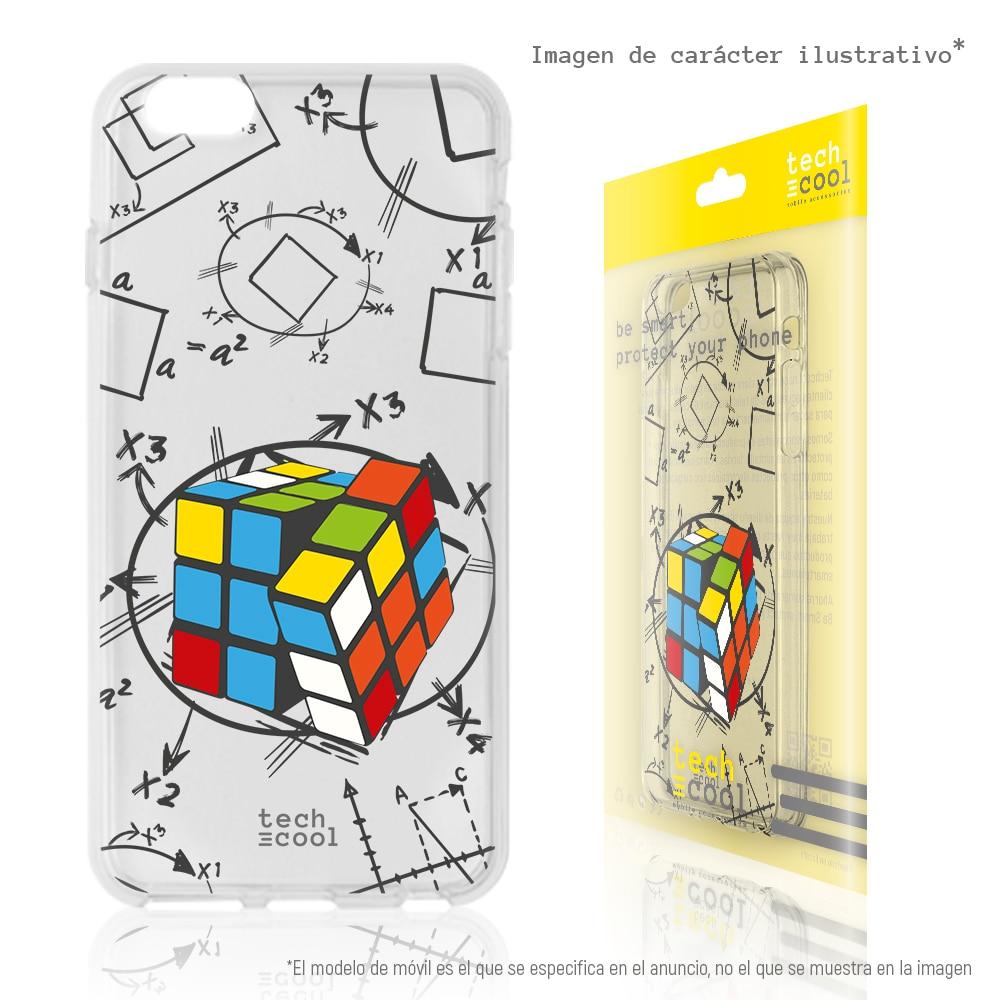 FunnyTech®Capa de silicone para xiaomi redmi note 4 l design rubik cubo vers.4 transparente