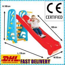 Juguetes al aire libre para niños, tobogán para juegos infantiles, tamaño grande, 35 kg. Capacidad, escalera certificada CE y aro de baloncesto, entrega rápida
