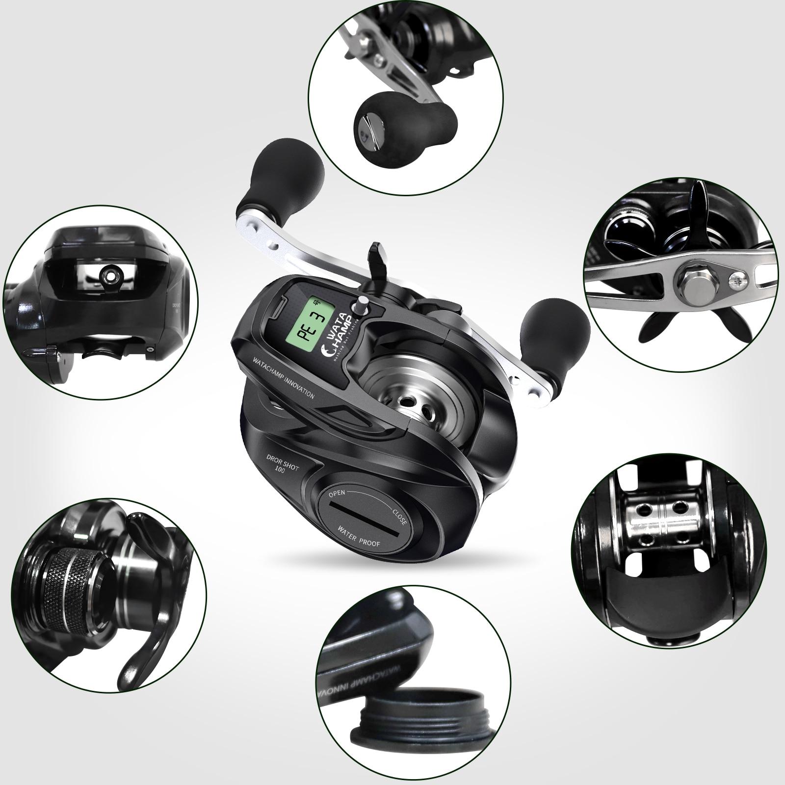 WataChamp Fishing baitcasting Reel  6.2:1 Gear Ratio 6KG Max Drag With Line Counter Fishing Tackle Gear Digital Display enlarge