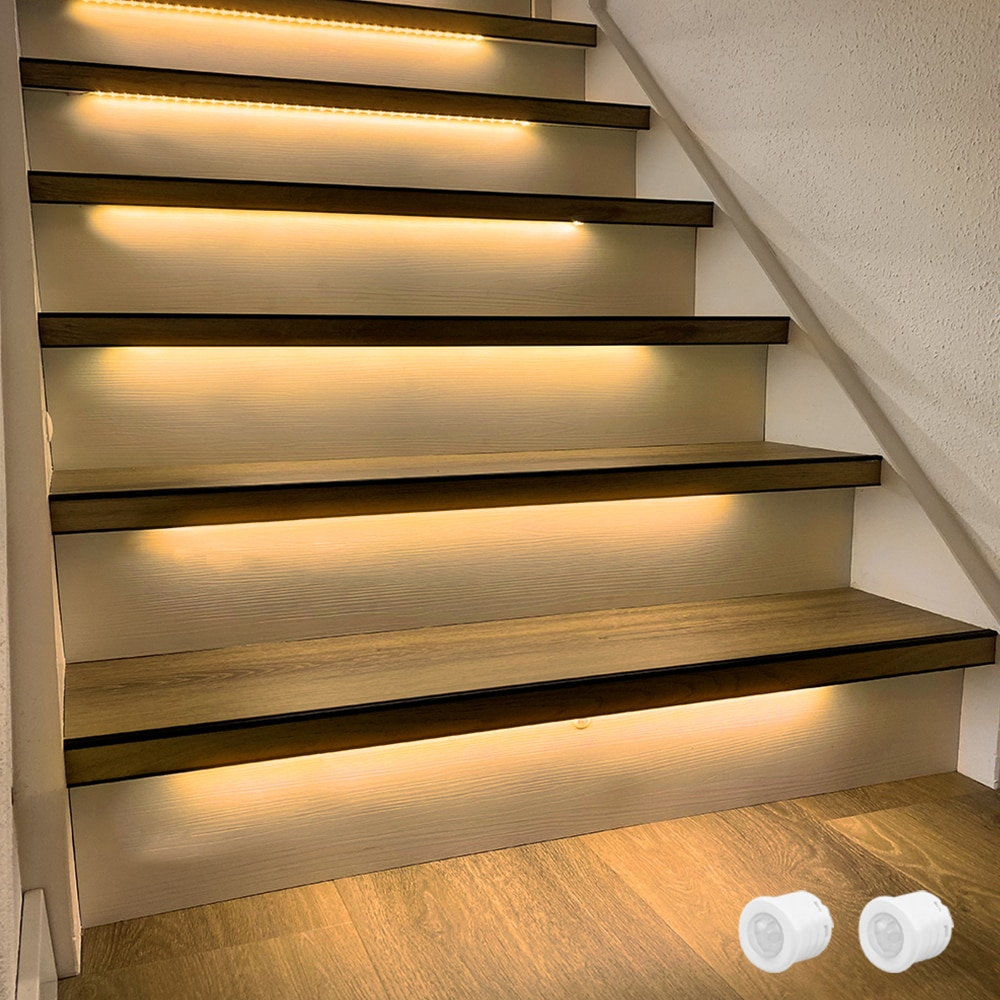 1.3M LED Strip 15 Steps Automatic stair lighting with Motion Sensor-Plug and Play