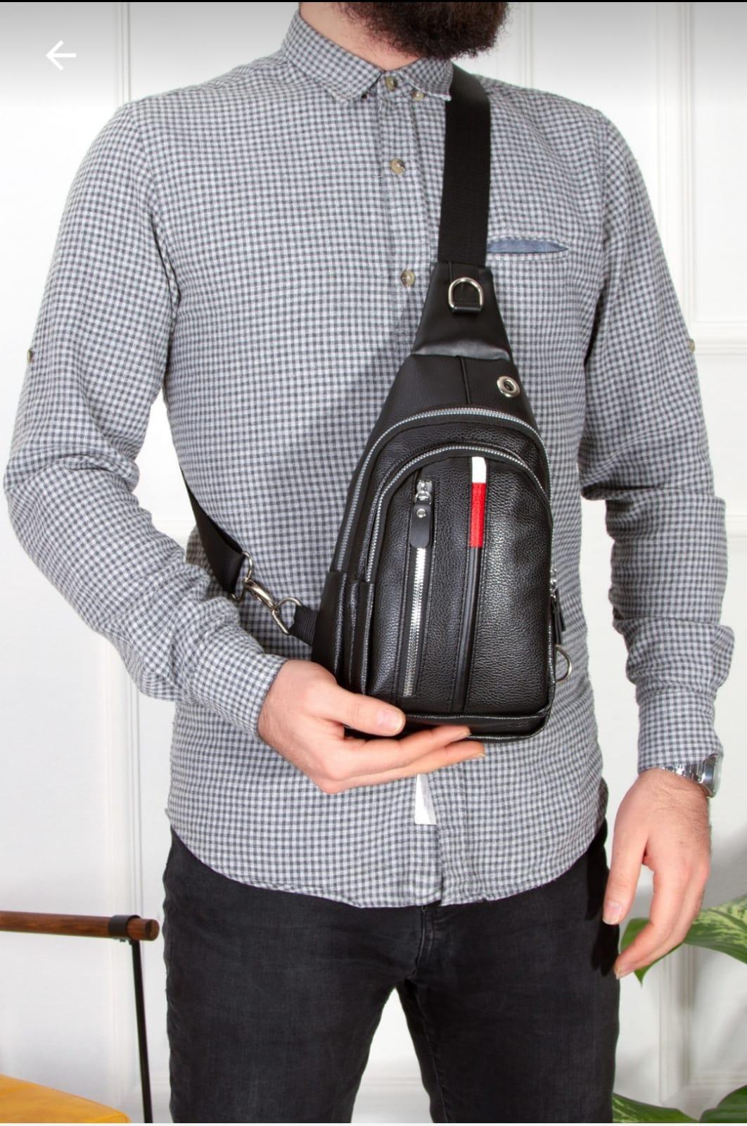men's waist bag, men's chest bag, men's shoulder fork, men's travel business multi-pocket bag,men leather bag