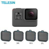 Комплект нейтральных фильтров Telesin 4 Pack ND 4 8 16 для камеры GoPro Hero 5 6 7 Black