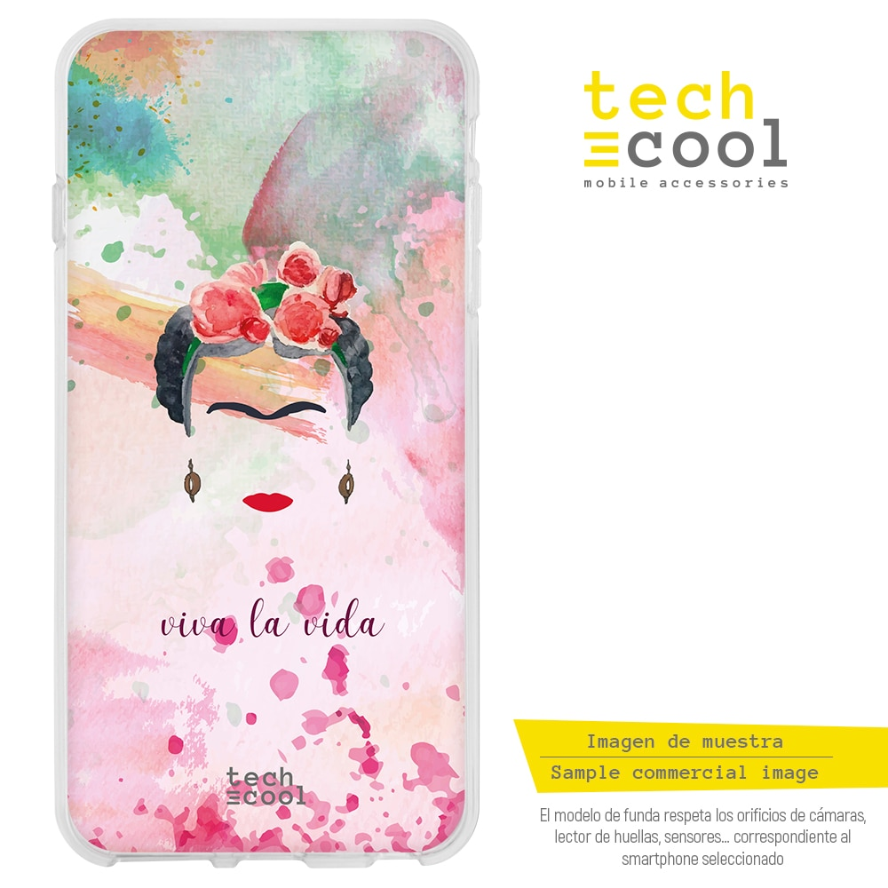 FunnyTech® Funda Silicona para Samsung Galaxy Grand Neo Plus i9060 l Frida Fondo Colores Personajes Diseños Ilustraciones 3