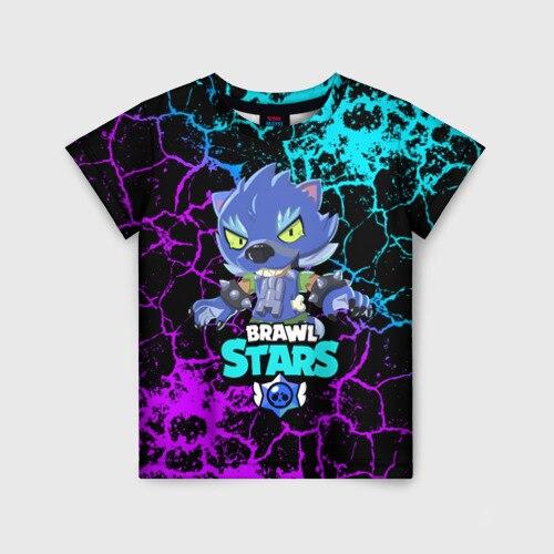 Детская футболка 3D BRAWL STARS LEON ОБОРОТЕНЬ.|Тройники| | АлиЭкспресс