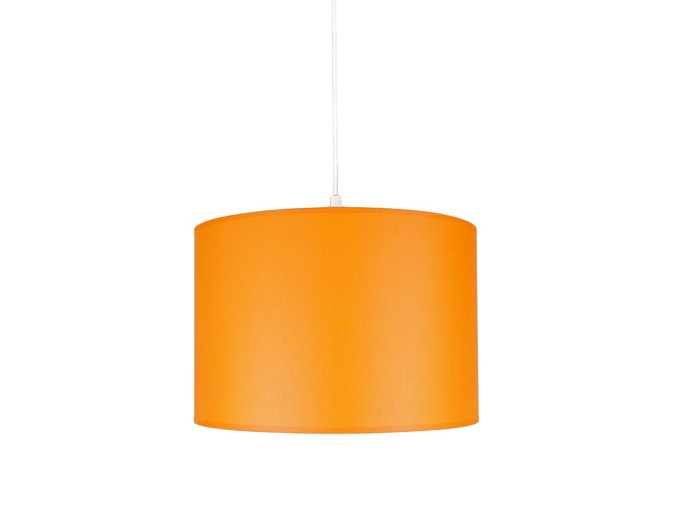 Senay Lightning-ثريا من قماش الأسطوانة ، برتقالي