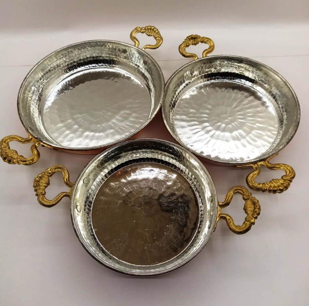 Кухонная посуда медная сковорода сартены декоративная жареная сковорода для яиц ручная сковородка для омлета традиционная турецкая