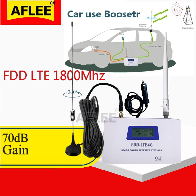 Car Use!! LTE DCS 1800mhz4G Network Mobile Signal Booster Repeater 2G 4G 1800Mhz Cellphone Cellular