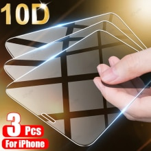 3Pcs Tempered Glass On The For iPhone 11 12 13 Pro XS Max XR X Screen Protector For iPhone 8 6 7 Plus SE 5 5s Protective Glass