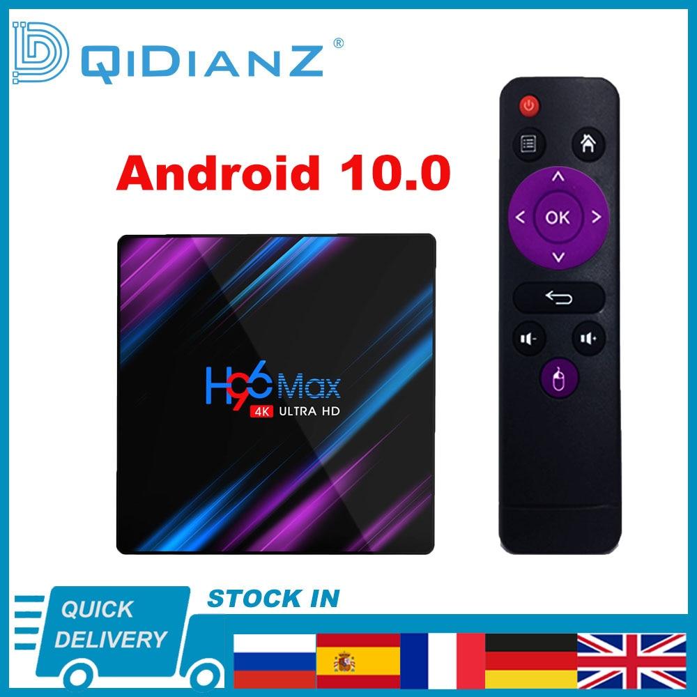 Android 10,0 h96max 4k smart tv caixa 1080p quad core h96max tv caja rk3318 2,4g inalámbrico wifi reprodutor multimídia