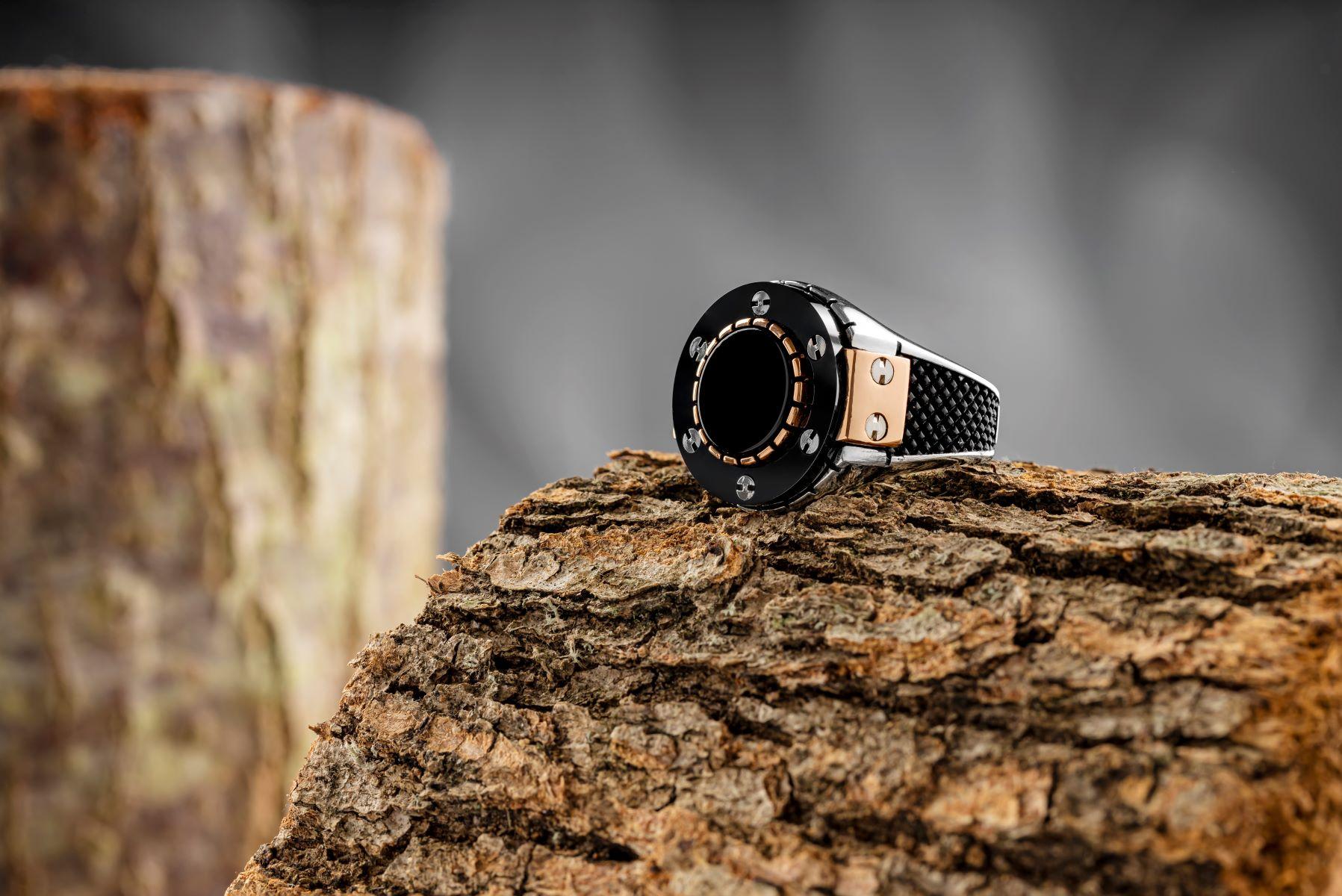 خاتم حجر عقيق من الفضة الإسترليني 925 مضمون عالي الجودة مصنوع في تركيا مصنوع بشكل جميل للرجال مع هدية