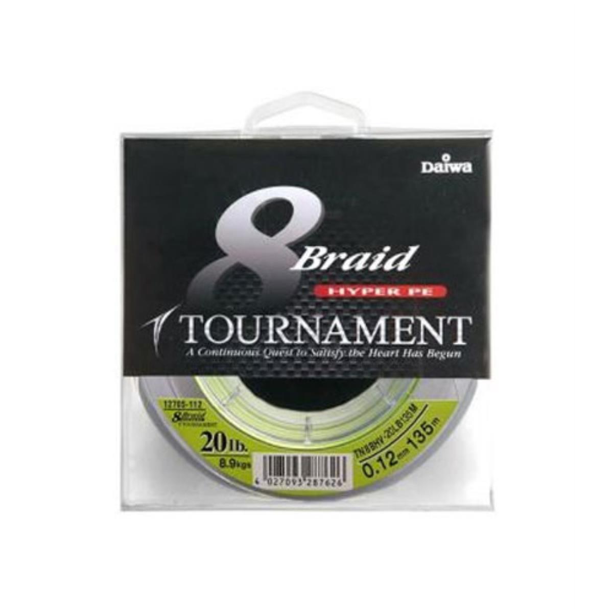 Cable de torneo Daiwa 8 xbraid verde oscuro 0,12mm 135 M #