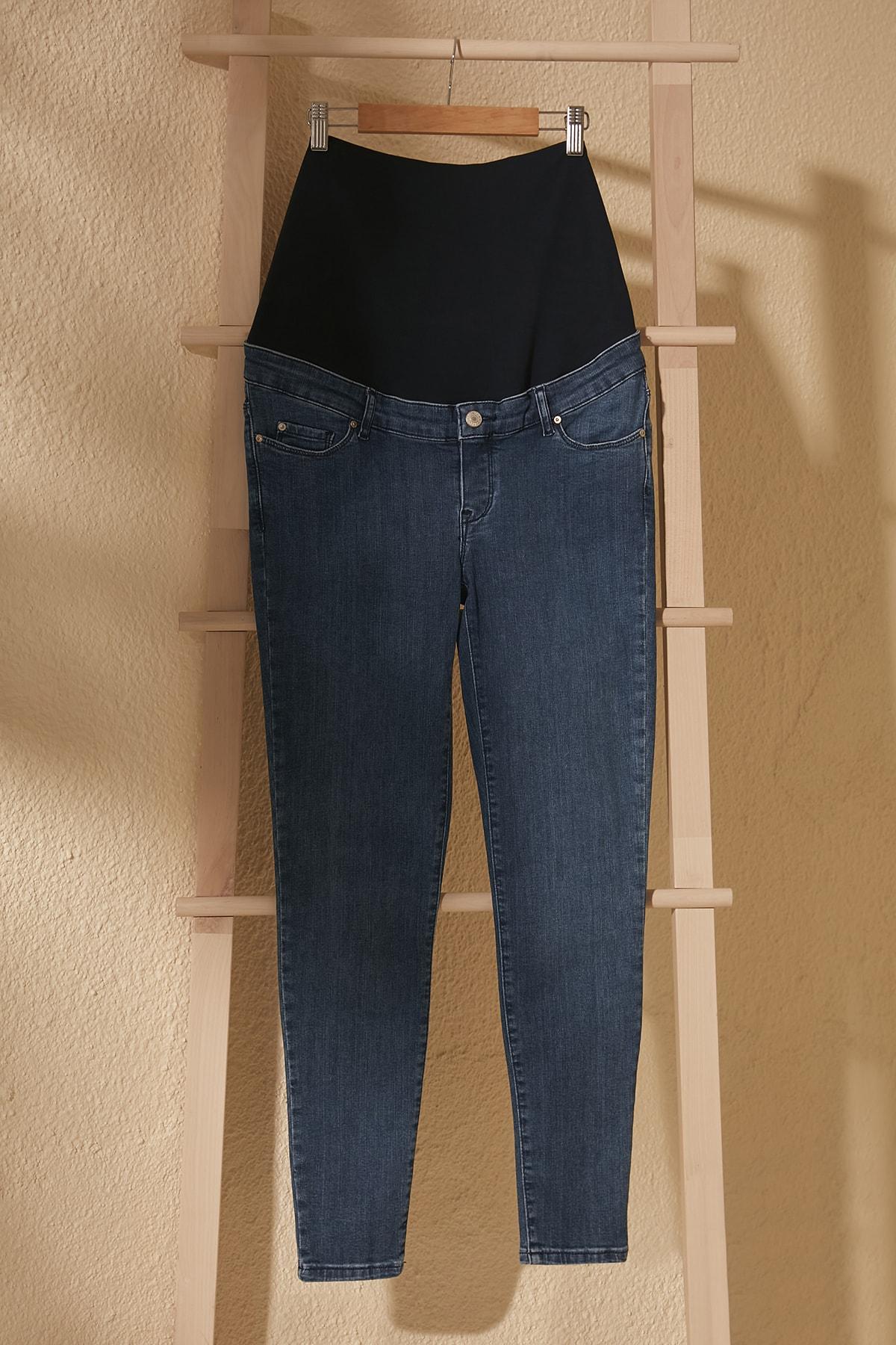 Trendyol Beli Wheel Maternity Skinny Jeans TWOSS20JE0355