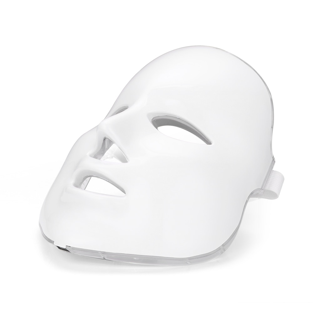 قناع الوجه للعلاج بالضوء LED ، 7 ألوان ، محمول ، تجديد الجلد ، قناع التجاعيد