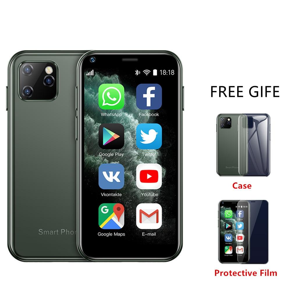 Маленький смартфон SERVO, нано-экран 2,5 дюйма 16:9, поддержка двух SIM-карт, сотовый телефон MT6580, 1 ГБ, 8 ГБ, GPS, WCDMA, распознавание лица, мини-мобильный ...