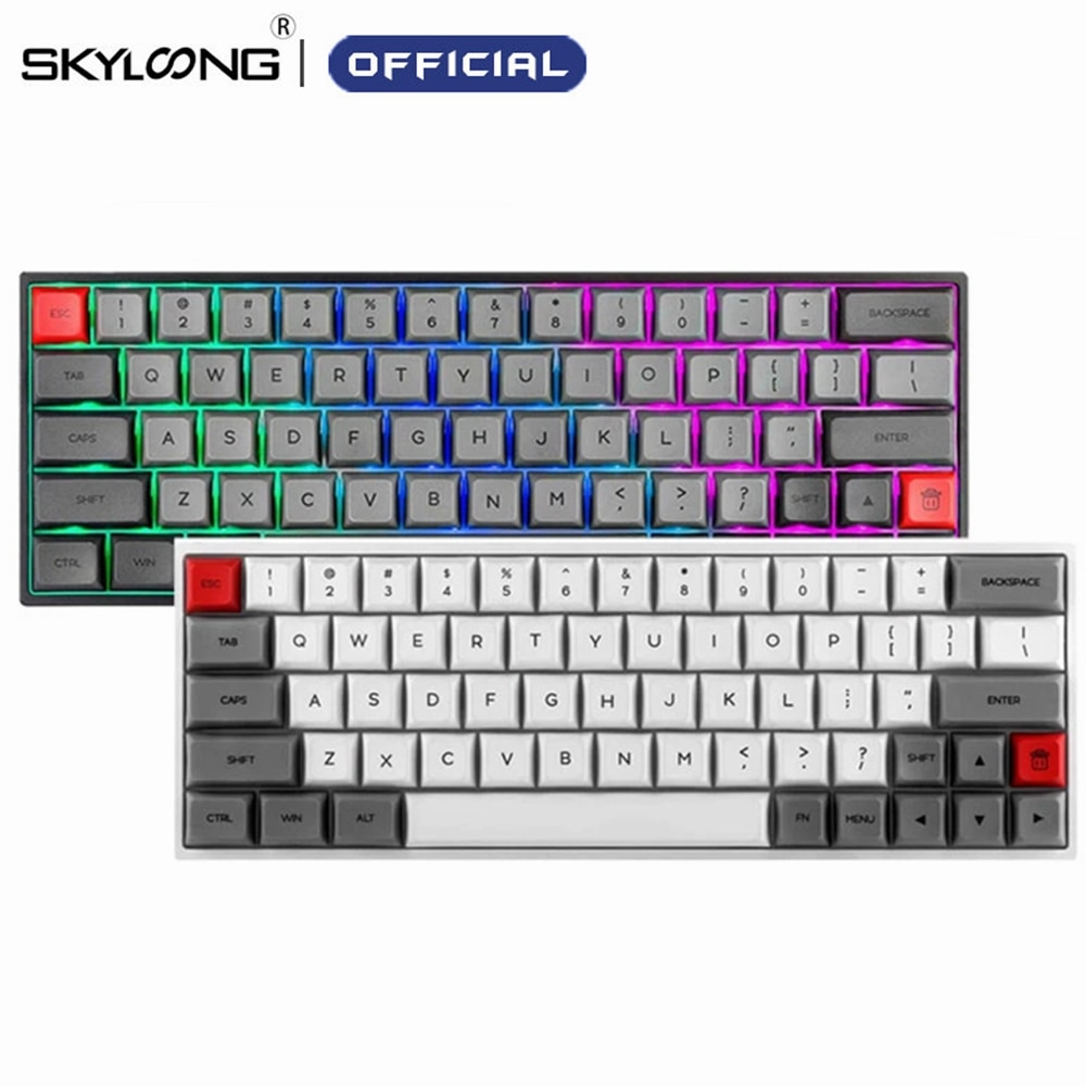 Promo SKYLOONG SK64 Hot Swappable Mechanical Keyboard With RGB Backlit Wireless Bluetooth Gaming Keyboard ABS Keycaps For Win/Mac GK64