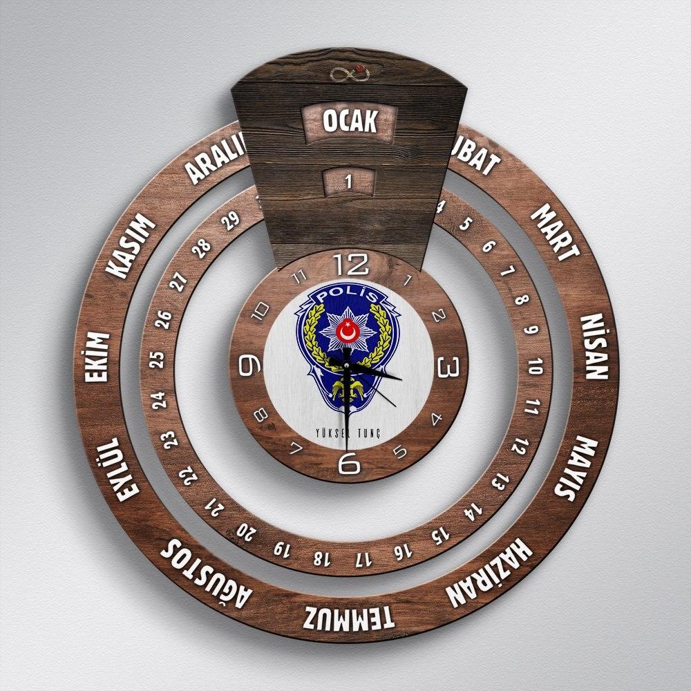 Reloj de pared de madera con calendario maya infinito de la película profesional, personalizado-2