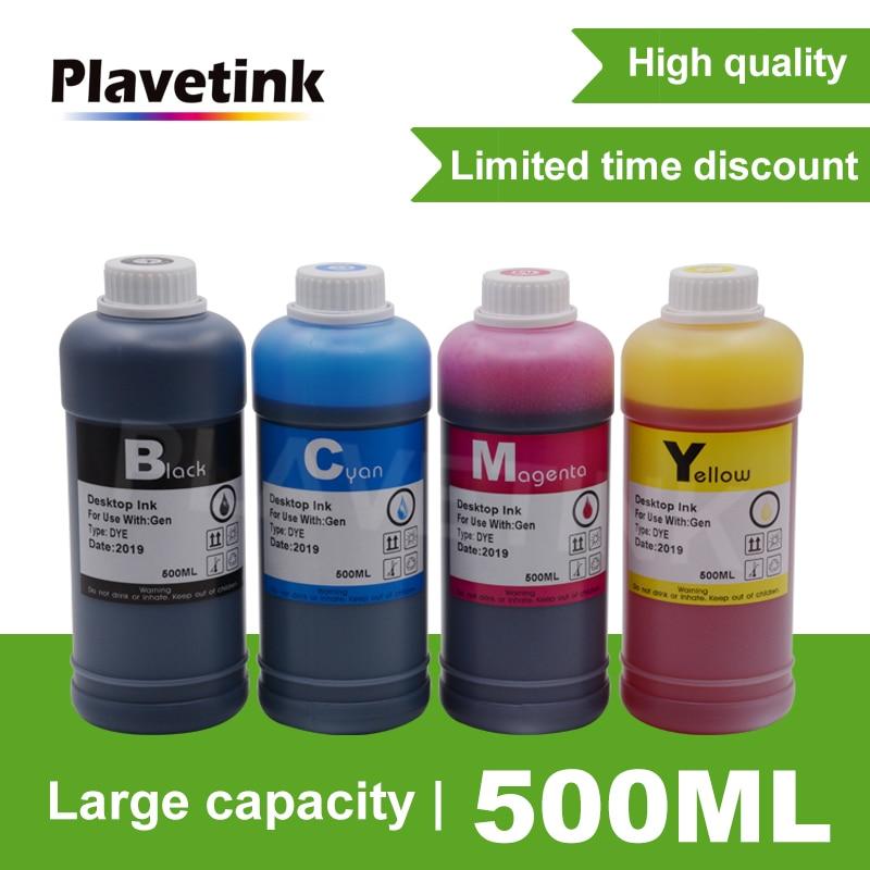 Plavetink طابعة صبغ الحبر مجموعة إعادة الملء 500 مللي زجاجة الحبر للطابعة ل HP 123 ل HP Deskjet 1110 4513 4560 خراطيش