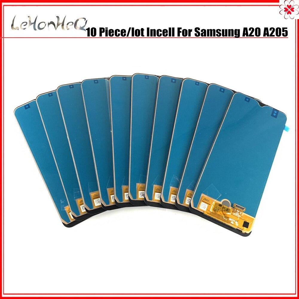 الجملة 10 قطعة A20 Incell LCD لسامسونج غالاكسي A20 2019 A205F A205 عرض تعمل باللمس محول الأرقام الجمعية لسامسونج A20