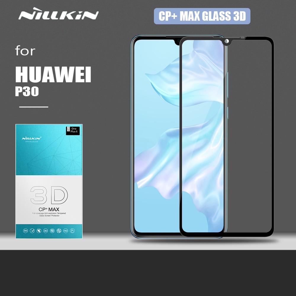 Nillkin huawei 社 P30 ガラス CP + 最大 3D フルカバー強化ガラス安全保護スクリーンプロテクター huawei 社 P30 フィルムガラス