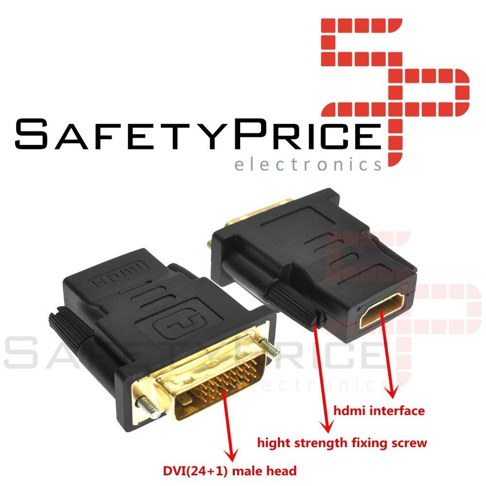ADAPTADOR CONVERSOR HDMI HEMBRA A DVI (24 + 1) MACHO CONECTOR