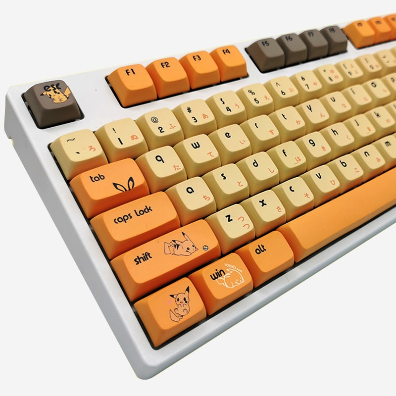 PBT 108/155 مفاتيح صبغ التسامي كاي كابس XDA للوحة مفاتيح الألعاب الميكانيكية اليابانية لطيف مقاومة للاهتراء كاي كابس