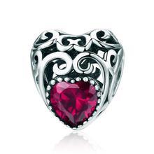 ANNA QUEEN July breloques de pierre de naissance feuilles vague coeur perle breloques ajustement Bracelet à breloques collier