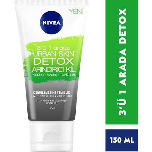 Nivea Urban Skin Detox 3'ü 1 In Purifying Clay 150 ml недорого
