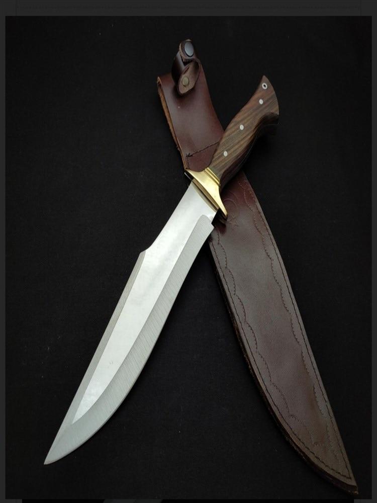 35 cm Tactical fixed knives hunting knife bushcraft camping tools survival sharp walnut handle blade kukri machette 4116 steel