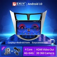 autoradio 2din for hyundai solaris accent i25 verna 2010 2011 2012 2013 2014 2015 2016 android 10 0 car radio multimedia player