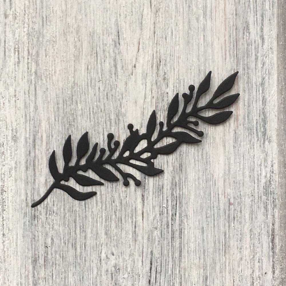 Artesanías del Día de la Victoria-ramas de la rama de la hoja de Metal plantillas para DIY álbum de recortes de tarjetas decorativas artesanales troquelados   arte 185