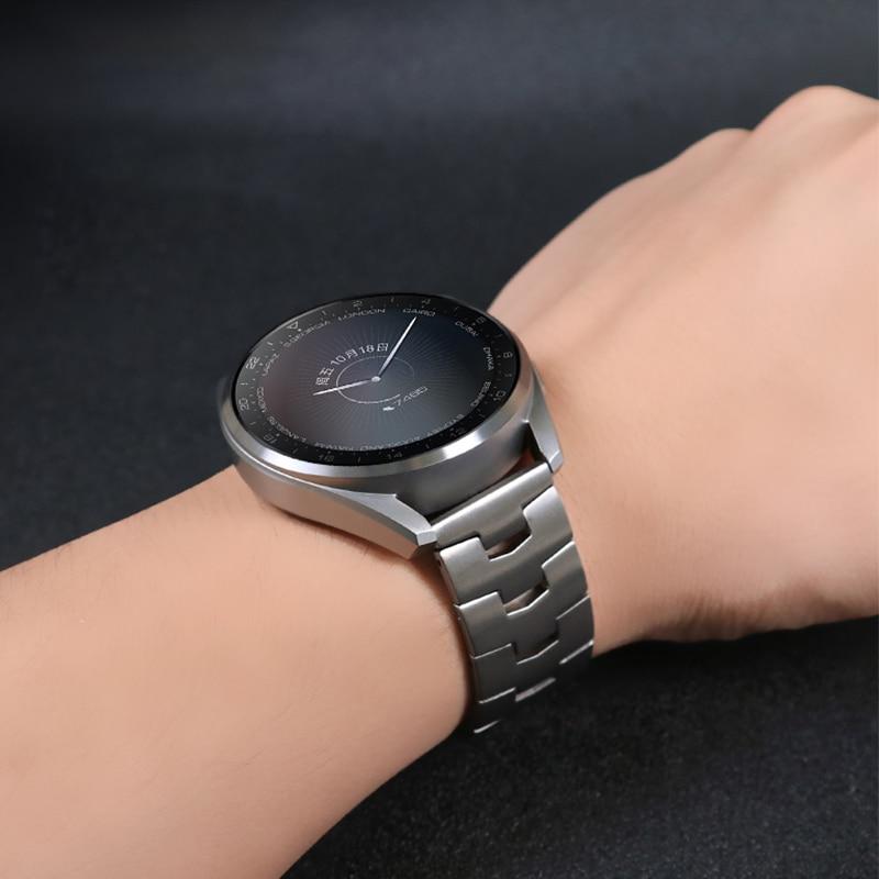 22mm Titanium Strap for Huawei Watch 3/3 Pro Titanium Metal Watch Band for Huawei GT 2 Magic2 GT2 Pro 2E 46mm watch Wrist Band enlarge
