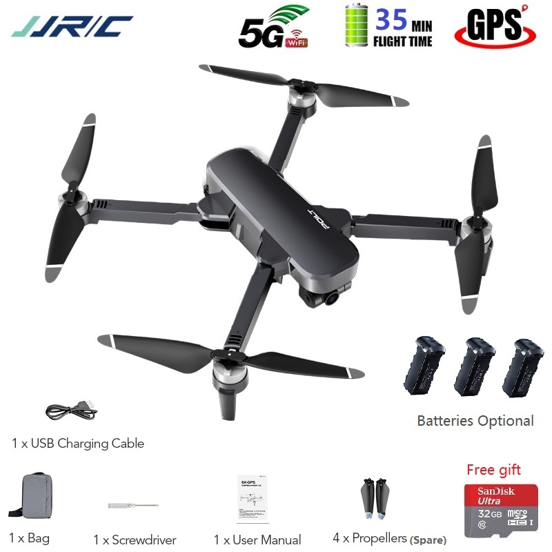New JJRC X17 Silver Gray 6K ESC HD Camera Drone with GPS 5G WiFi 2Axis Gimbal Optical Flow Pos. Brushless Motor Quadcopter Drone
