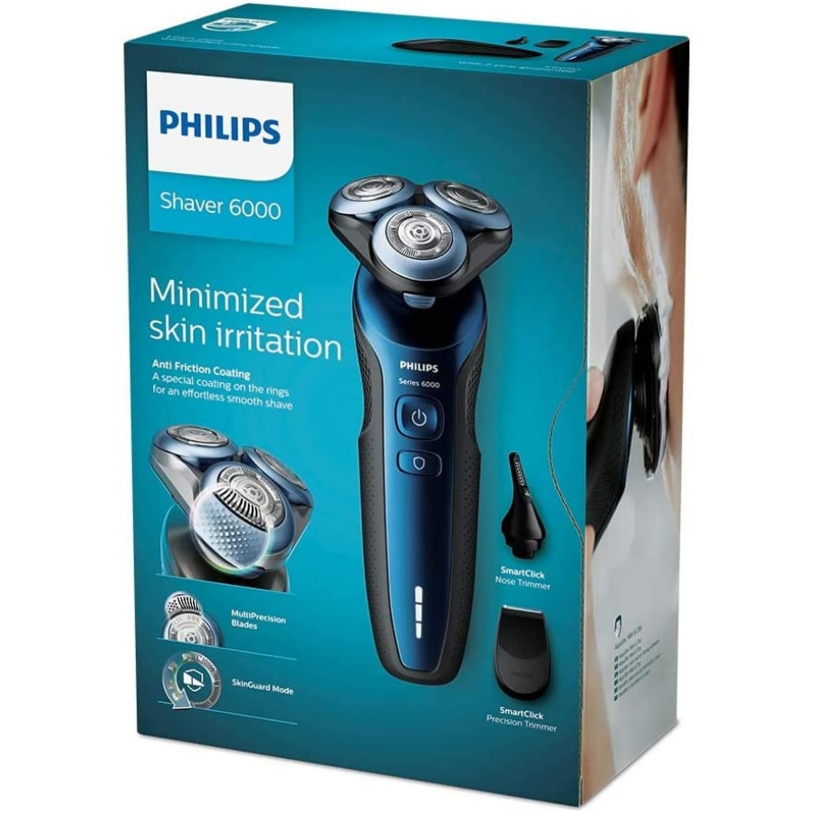 Philips Series 6000 Wet & Dry Men's Electric Shaver with Precision Trimmer and Nose Trimmer - S6650/48 enlarge